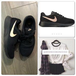 FIRM Nike Tanjun Rose Gold Swoosh Sneakers 9.5